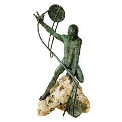 """Francesco Marcangeli Bronze Sculpture Titled """"Giustizia"""""""