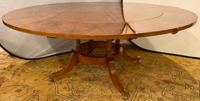 Italian Francesco Molon Regency Style Dining Center Table by Giemme For Sale
