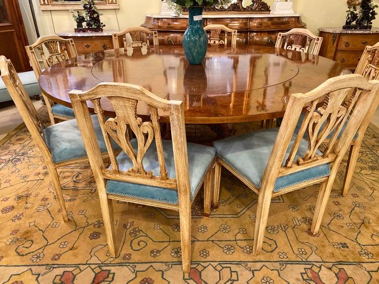 20th Century Francesco Molon Regency Style Dining Center Table by Giemme For Sale