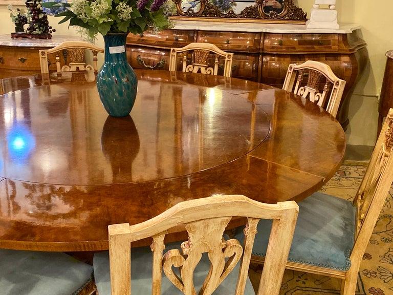 Wood Francesco Molon Regency Style Dining Center Table by Giemme For Sale