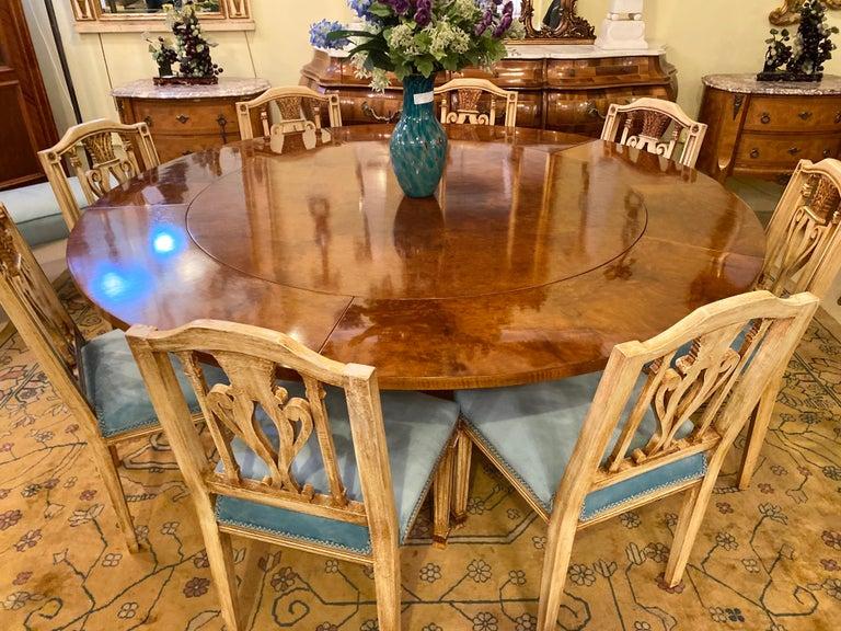 Francesco Molon Regency Style Dining Center Table by Giemme For Sale 1