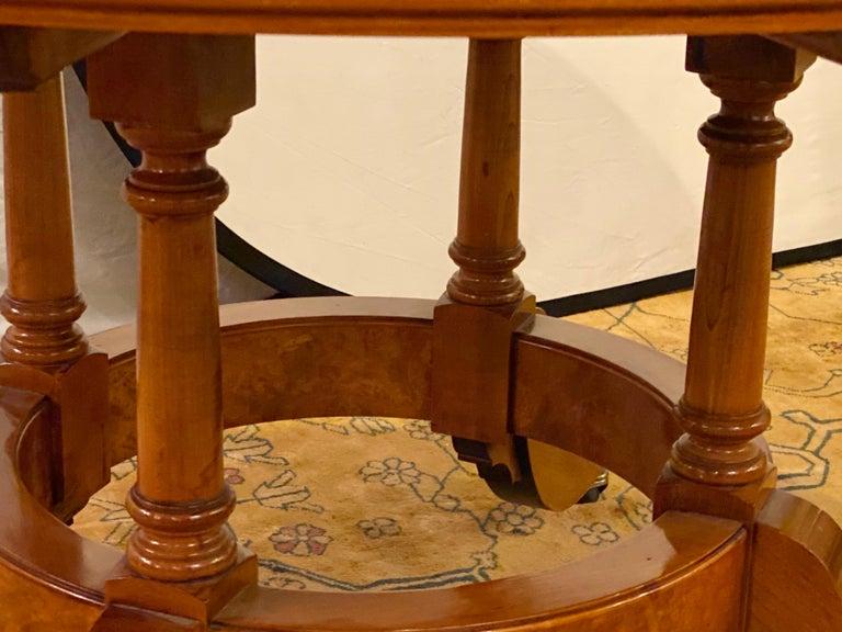 Francesco Molon Regency Style Dining Center Table by Giemme For Sale 3