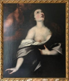 The martyrdom of Saint Agatha. Oil painting by a follower of C. F. Nuvolone