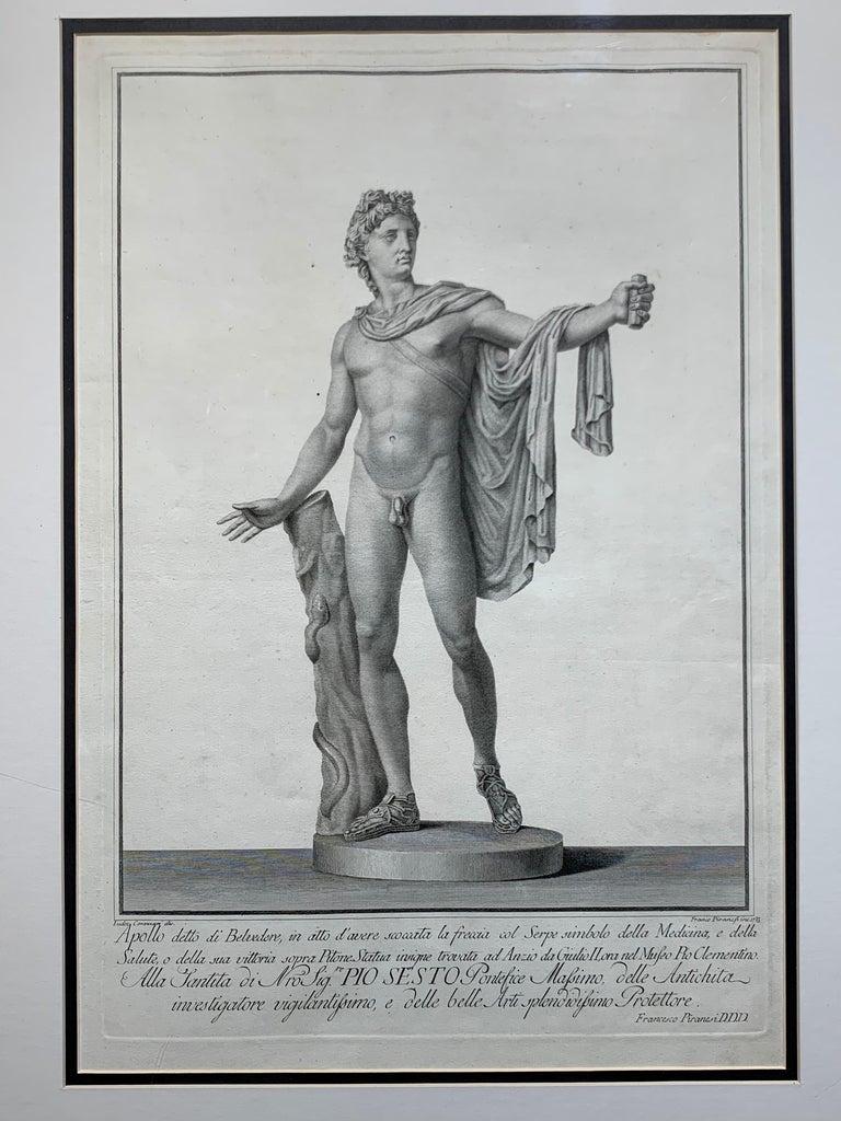 Apollo Belvedere and Venus Callipyge - Print by Francesco Piranesi