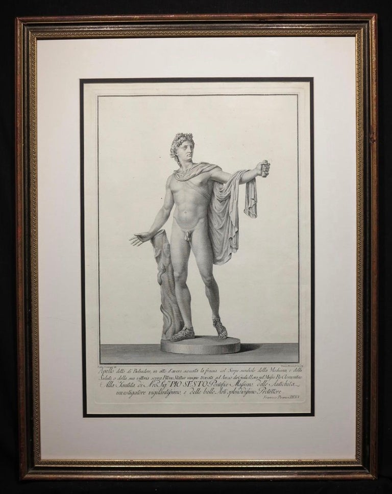 Apollo Belvedere and Venus Callipyge - Gray Figurative Print by Francesco Piranesi