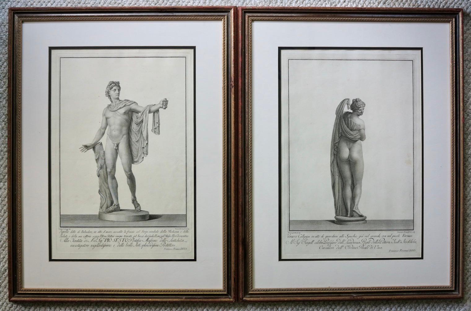 Apollo Belvedere and Venus Callipyge
