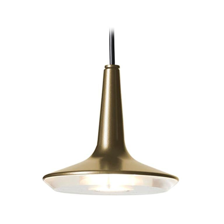 Francesco Rota Suspension Lamp 'Kin' 478 Satin Gold by Oluce