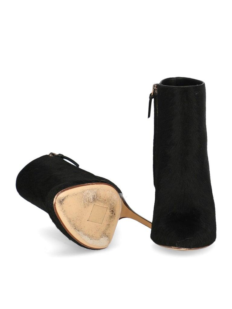 Women's Francesco Russo Woman Ankle boots Black Leather IT 39