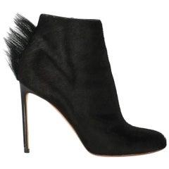 Francesco Russo Woman Ankle boots Black Leather IT 39