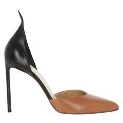 Francesco Russo  Women   Pumps  Black, Camel Color Leather EU 38.5