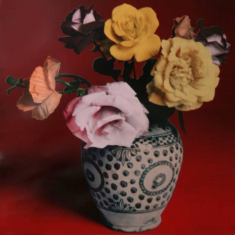 Francesco Scavullo Still-Life Print - Flower Arrangement (Red)