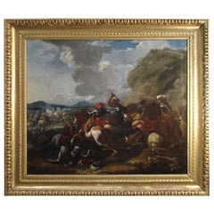 Francesco Simonini '1686-1755' 'Battle Scene' 18th Century, Italy