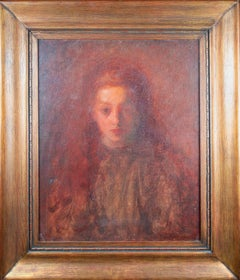 'Little Mary Spicuzza' signed oil painting of the artist's sister