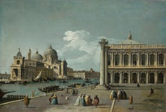 View of the Piazzetta a painting by Bernardo Canal, Canaletto's father