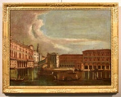 Tironi Venice Grand Canal Landscape Paint Oil on canvas Old master 18th Century