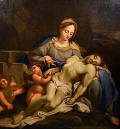 Pietà Trevisani Paint Oil on canvas Old master 18th century Italy Michelangelo