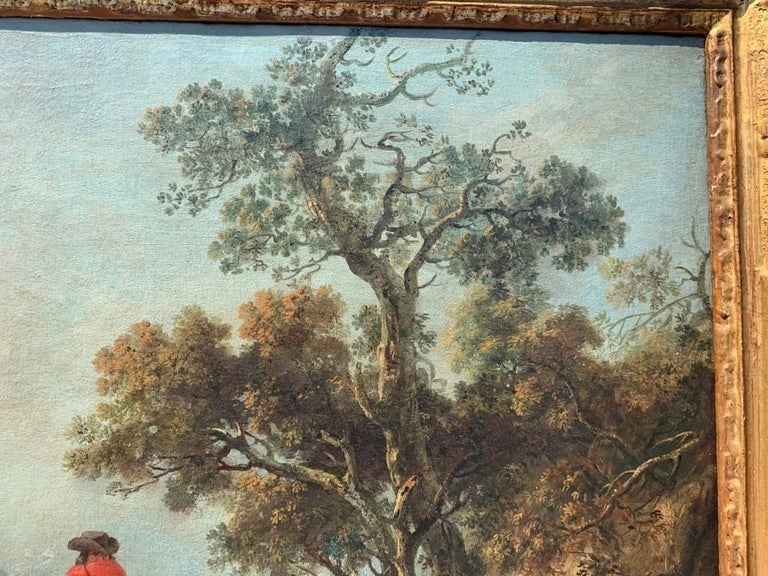 18th century Italian landscape painting - Knights - Oil canvas Zuccarelli Italy For Sale 6