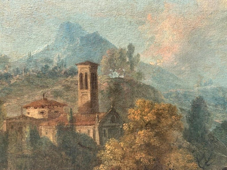 18th century Italian landscape painting - Knights - Oil canvas Zuccarelli Italy For Sale 12