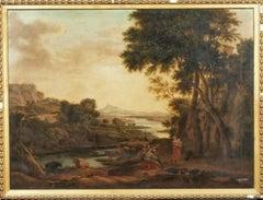 Italianate Capriccio Woodland River Landscape , 18th Century