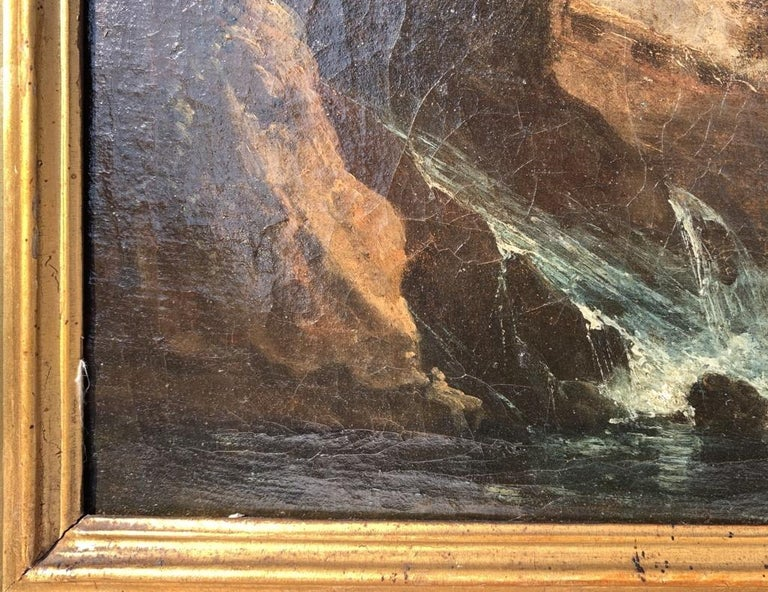 Pair of 18th century Venetian lanscape paintings - Zuccarelli - Oil on canvas For Sale 6