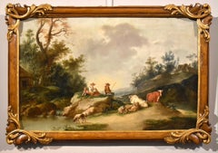 Landscape Zuccarelli Paint Oil on canvas Old master 18th Century Italian View