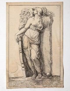 After Michelangelo - Original Etching by Francesco Zuccarelli - 1750