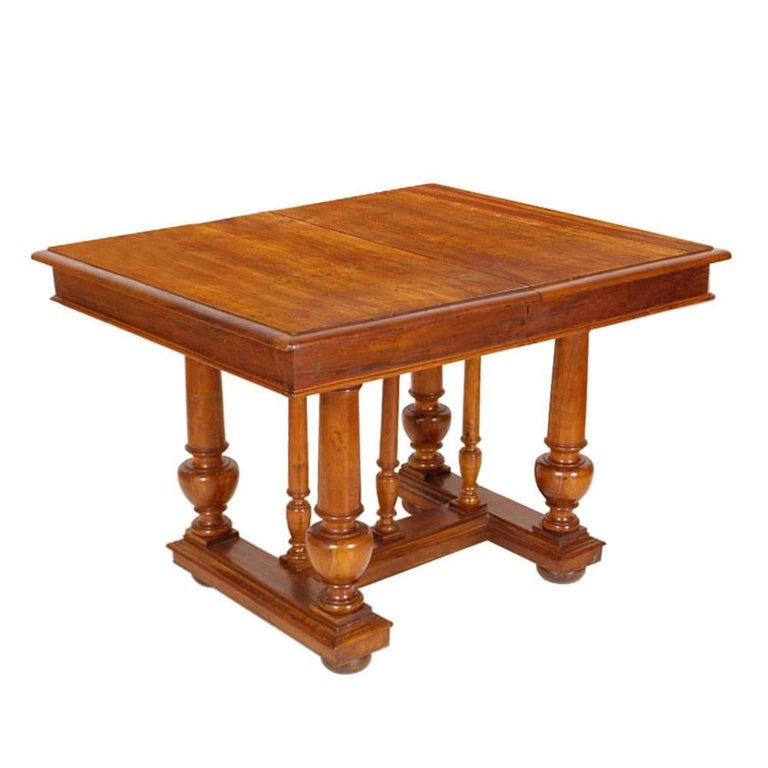 French Provencal Early 19th Century Empire Extendable Table Solid Walnut