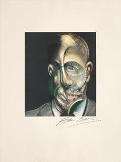 Portrait of Michel Leiris -- Print, Lithograph, Portrait by Francis Bacon