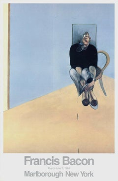 Seated Man 1984 Original Marlborough Gallery Exhibition Lithograph