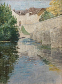Bridge at Grez sur Loing by Francis Brooks Chadwick (1859-1935, American)