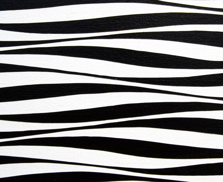 Undulating Units - Gray Abstract Painting by Francis Celentano