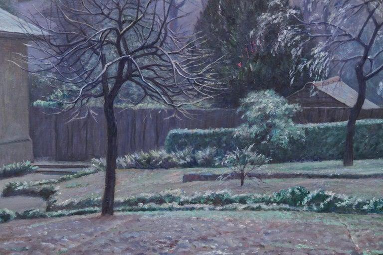 Rising Sun Blackheath London - British 40's art garden landscape oil painting  For Sale 3