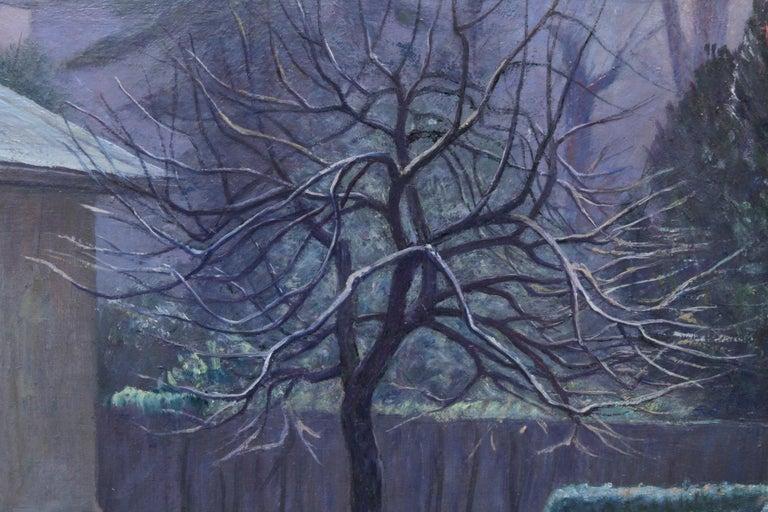 Rising Sun Blackheath London - British 40's art garden landscape oil painting  For Sale 4