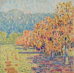 Santa Barbara, California Colorful Trees & Mountains #0-92