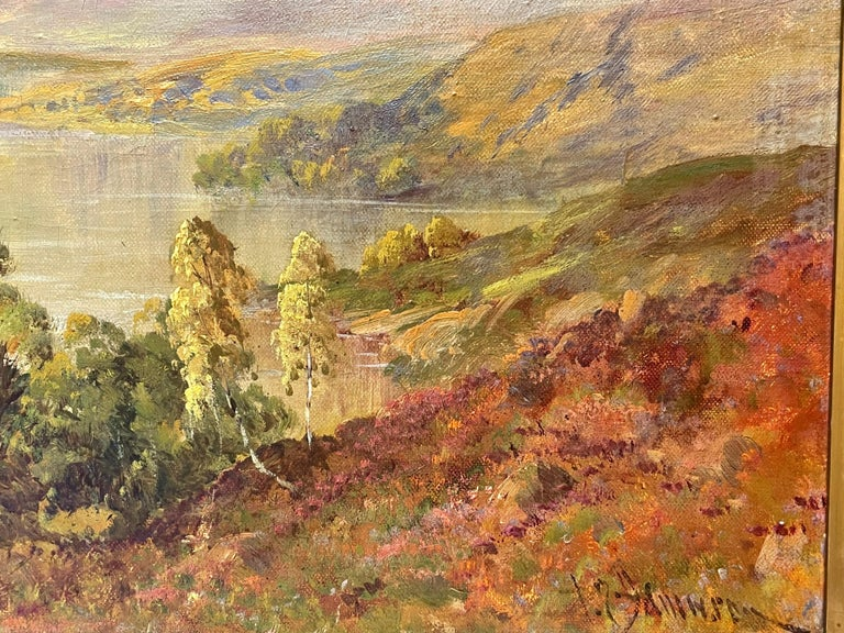Antique Scottish Highland Loch Katrine in the Trossachs Summer Landscape - Victorian Painting by Francis E. Jamieson