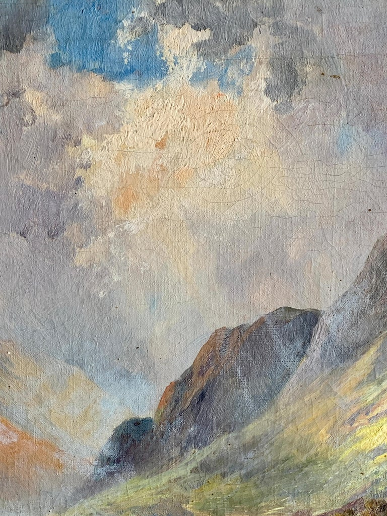 Francis Jamieson was a painter in oil and watercolor of highland landscapes and coastal scenes. (The work of this highly prolific artist is curious since the oils and watercolors have two quite distinctive styles and subject matter. The oil