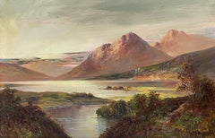 Antique Scottish Highlands Signed Oil Painting Loch Tay Perthshire