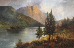 Ballachulish, Antique Scottish Highlands Loch Scene Oil Painting, Signed