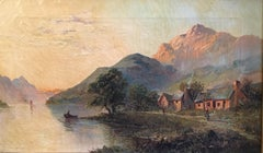 Glen Ogle, Lochearnhead, Antique Scottish Oil Painting Sunset, Signed