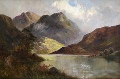 Loch Katrine 1926, Antique Scottish Oil Painting
