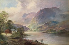 Loch Katrine, Antique Scottish Oil Painting, Signed