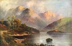 Loch Lomond, Antique Scottish Oil Painting, Signed
