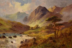 "Oil Painting by FRANCIS E. JAMIESON ""Brora Falls, Sutherland"""