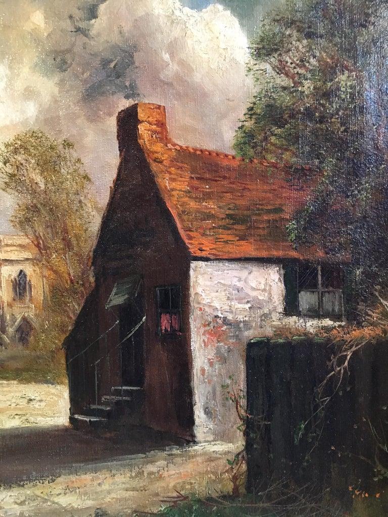 Scottish Cliffside, Antique Oil Painting, Signed For Sale 1