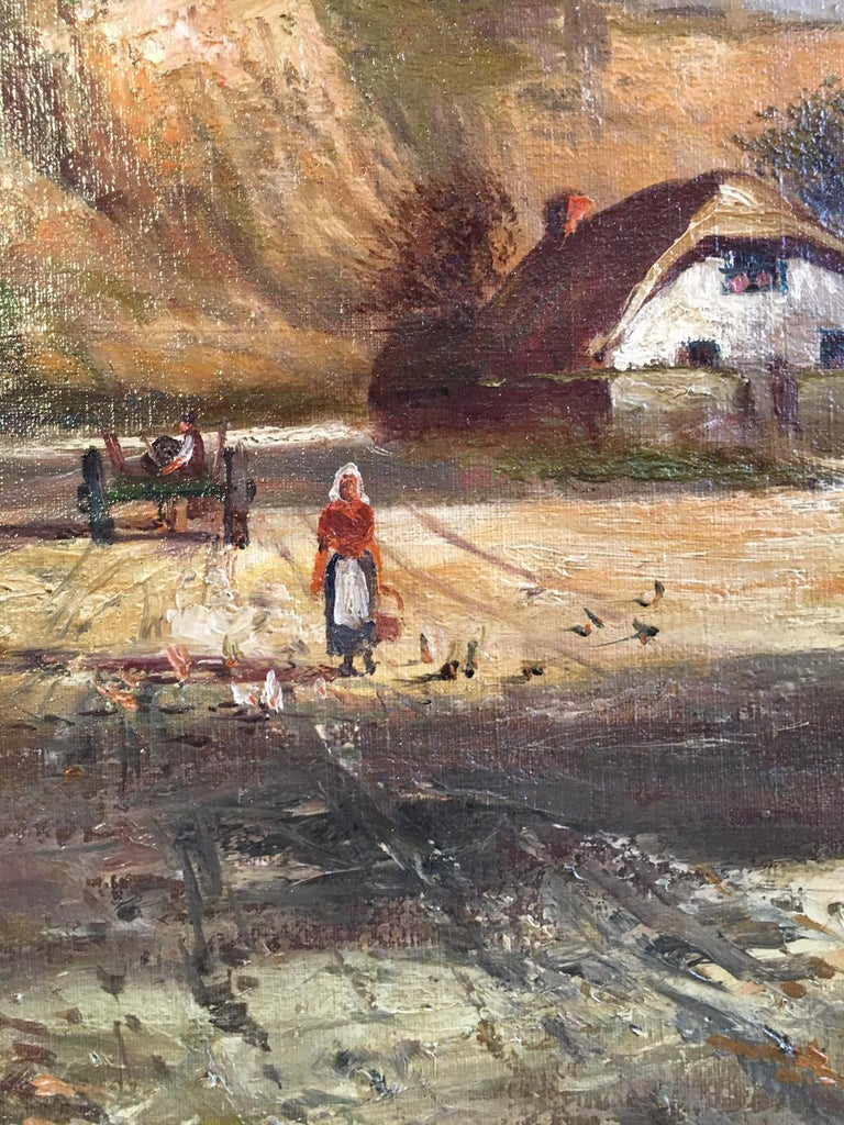 Scottish Cliffside, Antique Oil Painting, Signed For Sale 2