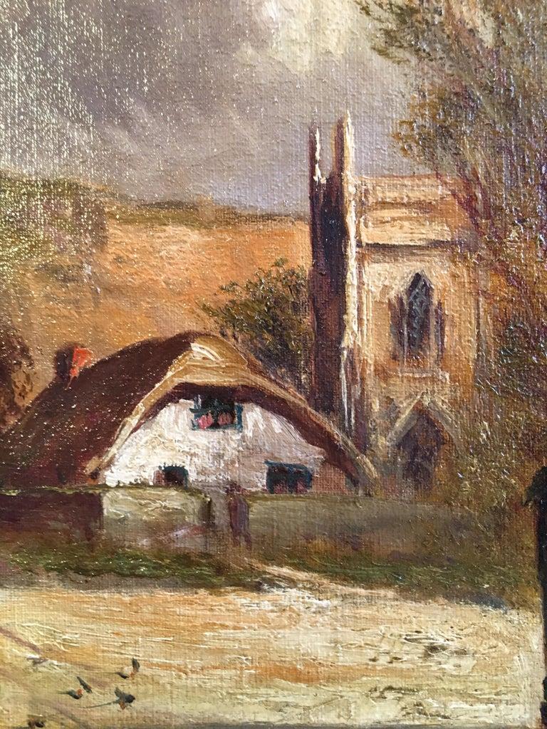 Scottish Cliffside, Antique Oil Painting, Signed For Sale 4