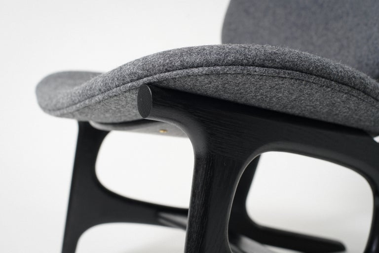 Joinery Francis Easy Chair with Black Frame and Wool Upholstery For Sale
