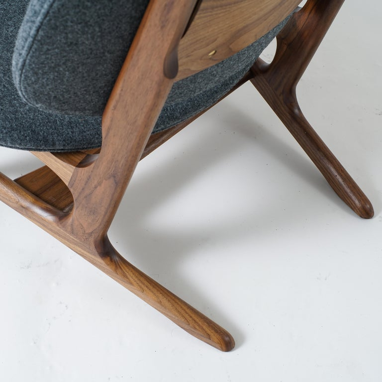 Joinery Francis Easy Chair with Walnut Frame and Wool Upholstery For Sale
