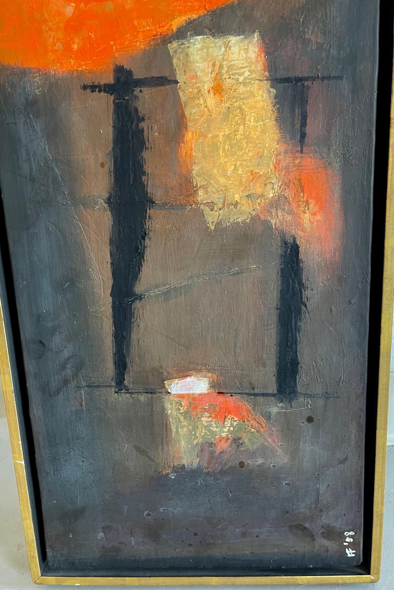 Hand-Painted Francis Field 1958 Abstract For Sale