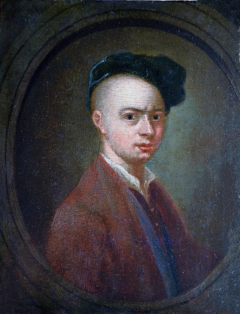 Francis Hayman Portrait Painting - Self-Portrait - Royal Academy Founding Member, 18th Century